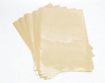 A4 STICKER PAPER (Set of 5 Sheets) - Transparent Clear Sticker Sheet Set (21.1cm x 29.9cm)