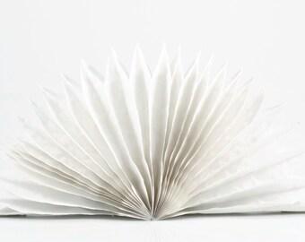 35cm WHITE PAPER FAN - White Tissue Paper Paper Fan / Medallion Lantern (35cm / Approx 14 Inch Diameter)