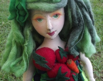 Arcimboldo's lady, a OOAK cloth doll