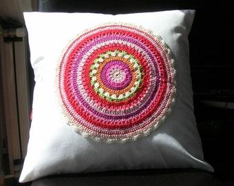 Cushion cover red mandala