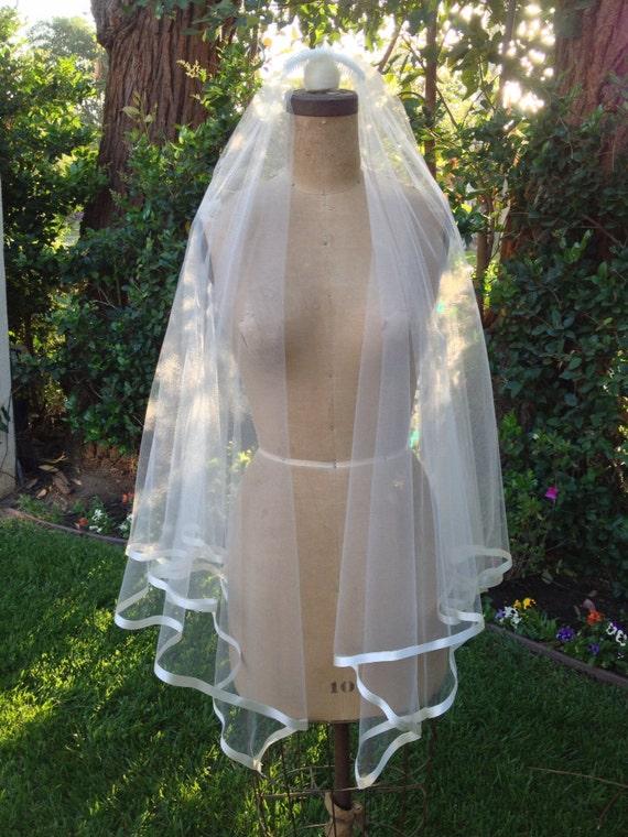 Drop Veil, Satin Edge Veil, Triangular 2- tier Veil, Vintage Veil, Square Veil, Classic Veil- MARGEAUX Veil