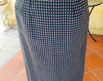 Vintage 1960's Pencil Skirt Pin Up Mad Men