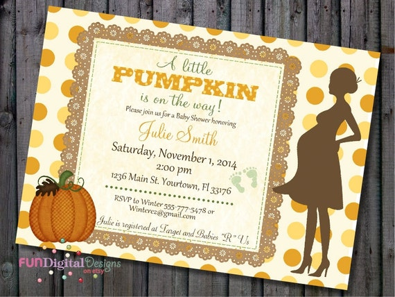 A little pumpkin is on his way fall baby shower invitation with il570xn filmwisefo