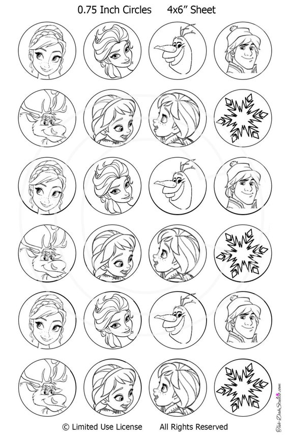 Disney Frozen Christmas Decorate the Tree Coloring by