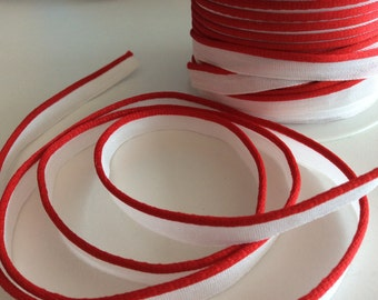 5M Piping Trim Red Color Cotton and satin