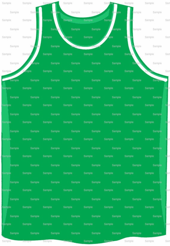 Green Basketball Jersey Birthday - Edible Cake and Cupcake Topper For ...