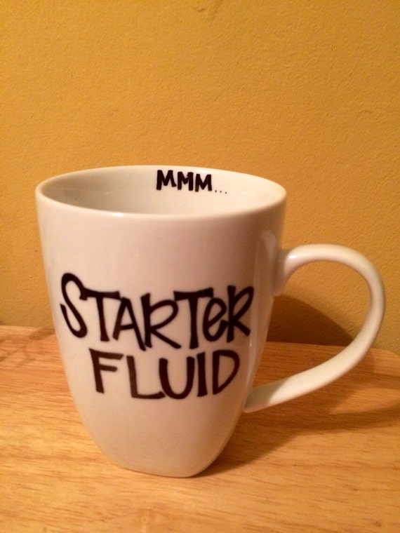 items similar to starter fluid coffee mug on etsy