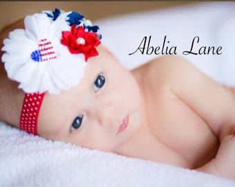 4th of July headbands,red white and blue headbands,girls headbands,infant headbands