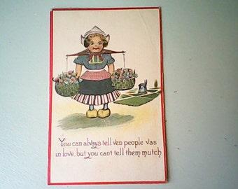 1914 Postcard Dutch Kid Series
