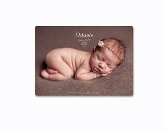 "Birth announcement ""Octavie"""