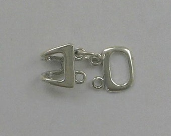 Sterling Silver Double Loop Clasp