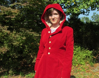 Ruby Red Hooded Coat