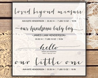 Photoshop Overlays - Birth Announcement  - 7 PSD files, 14 PNG files  plus EPS vector file