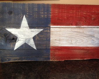 Rustic American Flag - One Star and Wide Stripes, Rustic Wood Flag, Designer Flag, Americana, Patriotic Devor