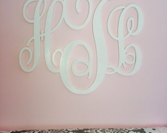 Nursery Decor, Wooden Monogram, Wall Art, Large Wood Monogram, Wedding  Decor 23