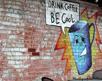 Coffee Graffiti Print