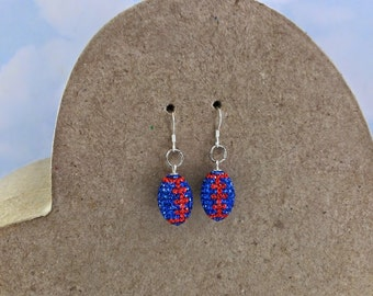 Florida Gators Rhinestone Football earrings !