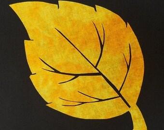 Aspen Leaf Quilt Applique Pattern Design