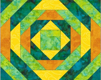Pineapple Paper Piece Foundation Quilting Block Pattern