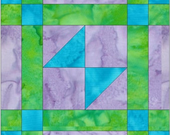 Odds and Ends Chain Paper Piece Foundation Quilting Block Pattern