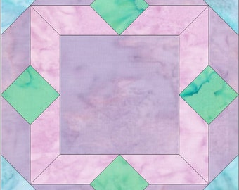 Picture Frame Paper Piece Foundation Quilting Block Pattern