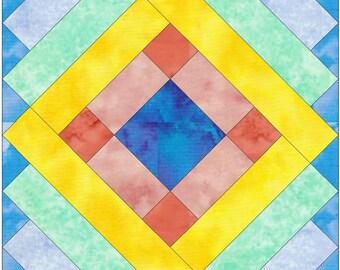 Album Paper Template Quilting Block Pattern PDF
