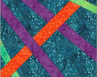 Celtic Diamonds Knot Chain Paper 6 inch Template Quilting Block Pattern PDF