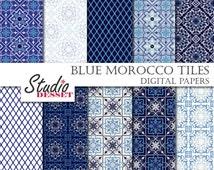 Articles populaires correspondant moroccan tile paper for Carrelage quadrilobe