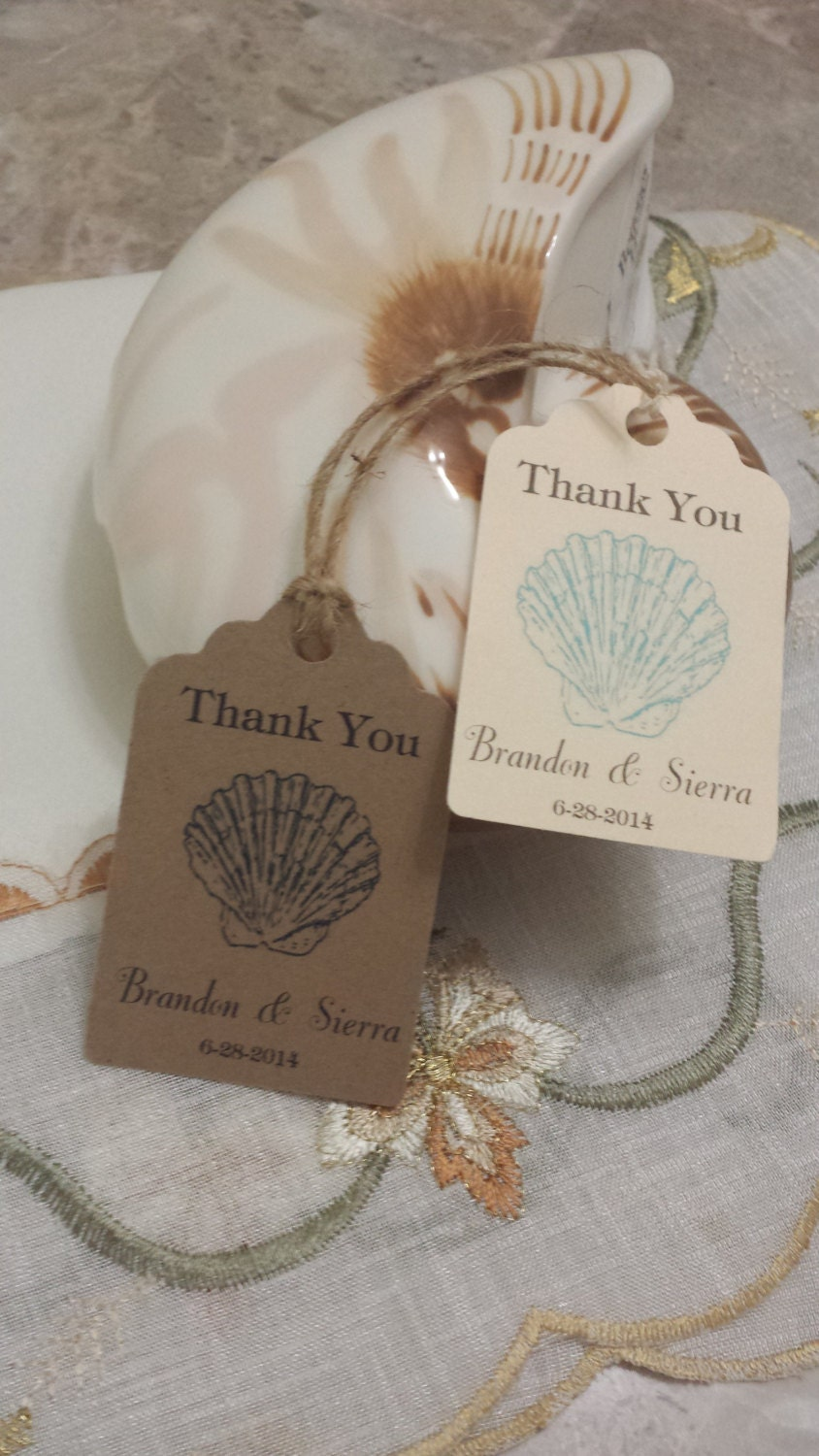 Personalized Beach Favor Tags 2 1/2 Wedding tags
