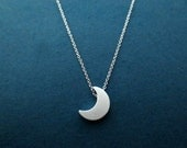 Beautiful, Crescent, Moon, Silver, Necklace, Moon, Jewelry, Best friend, Graduation, Lover, Birthday, Gift, Accessories, Jewelry