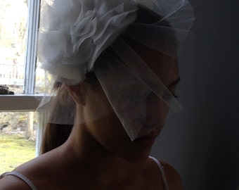Wedding Veil Organza and tulle Birdcage.