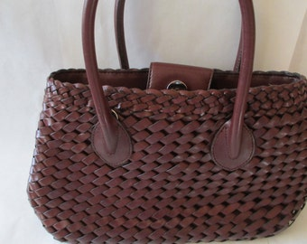 Fossil Purse - Purses, Woven Leather -  Rich Brown Fossil Purse - Very Special -Excellent Condition!