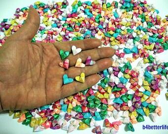 "600pcs Mini Size 3D Origami Hearts ""LOVE"". (TX paper series). #FOH-162."
