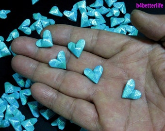 100pcs Light Blue Color Mini Size 3D Origami Hearts LOVE. (TX paper series). #FOH-103.