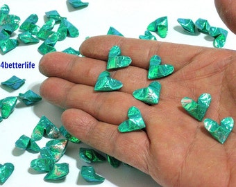 100pcs Cyan Color Mini Size 3D Origami Hearts LOVE. (CY paper series). #FOH-139.