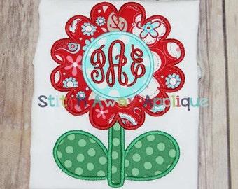Spring Flower Machine Applique Design