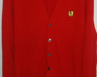Vintage Yellow Pages, Telephone Book, Red Cardigan