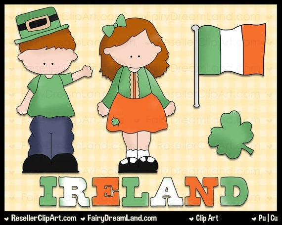 Irish Kids Digital Clip Art - Commercial Use Graphic Image Png Clipart ...