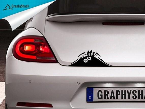 Funny Monster Peeking Car Decal Window Decal Sticker Vinyl