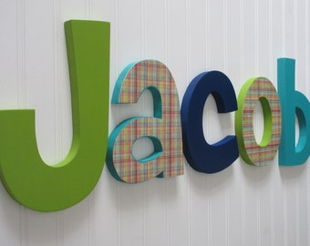 Nursery letters, Boy Nursery wall hanging letters, nursery decor, nursery wall letters