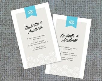 Wedding Invitation, Modern Wedding, Wedding Invite, Simple Wedding