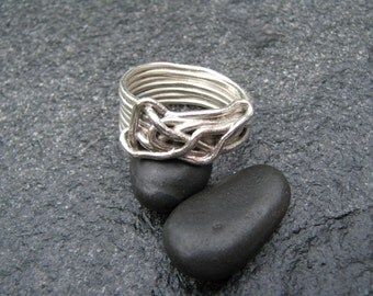 Free-form Sterling Wire Ring