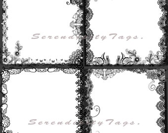 Lace overlay borders.