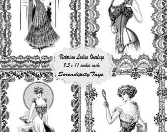 Four Victorian Ladies Overlays