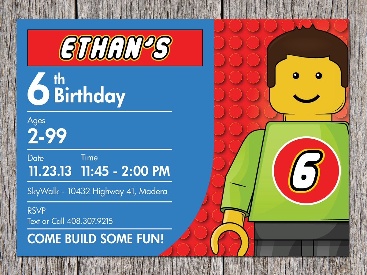 ... 11> Images For - Lego Birthday Party Invitations Free Printable