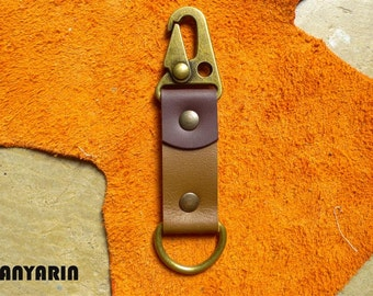 Leather keychain, leather key fob, Handmade Leather Key Fob, WR 138
