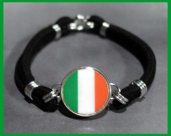 IRISH FLAG Ireland Dime Stretch Bracelet - One size fits most - Made In USA