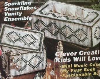 Quick and Easy Plastic Canvas Magazine No. 15 December January 1992 - Mailer Cover and Ad Pull-Outs Attached - MINT Condition