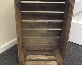Wooden fruit crate. rustic Fruit Crate