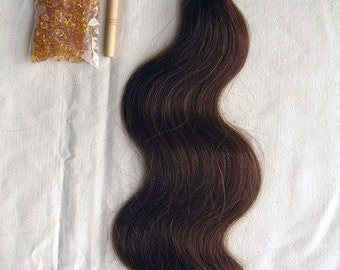 """24"""" 100% Brazilian Remy Human Hair Extensions Euro Wave- 6 #"""